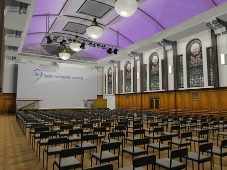 The Great Hall, James Graham Building – Leeds Beckett University