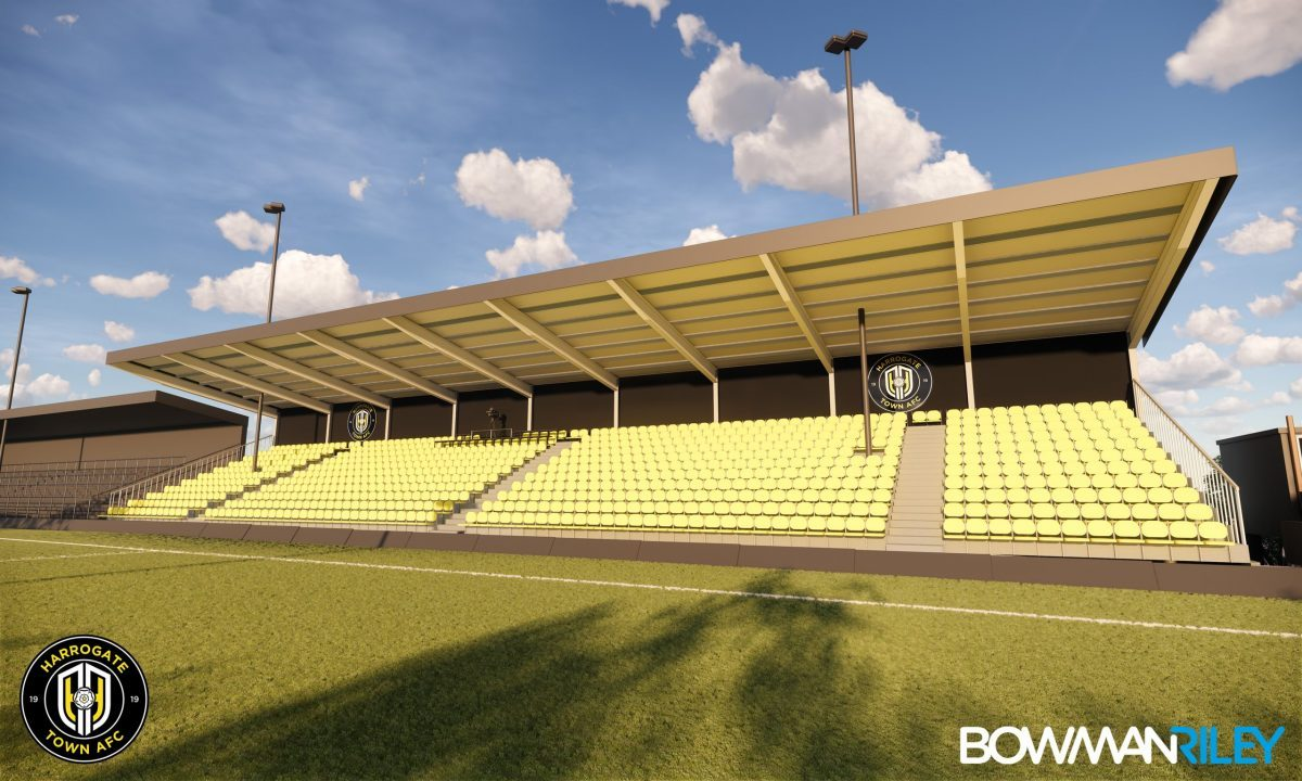 Work begins on redevelopment of stand at Harrogate Town Football Stadium