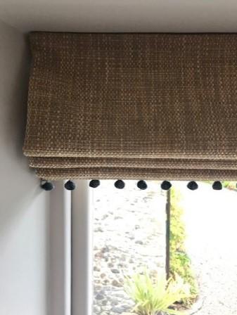cream blinds detail