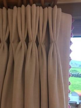 cream curtain detail