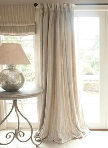 Long cream curtain